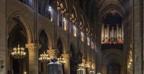 Cathedrale Notre Dame de Paris nef nouvelles cloches