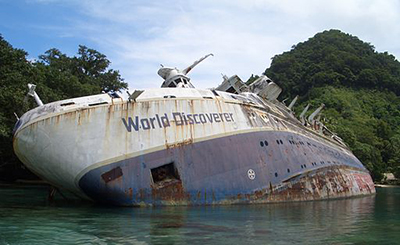 MS World Discoverer Shipwreck