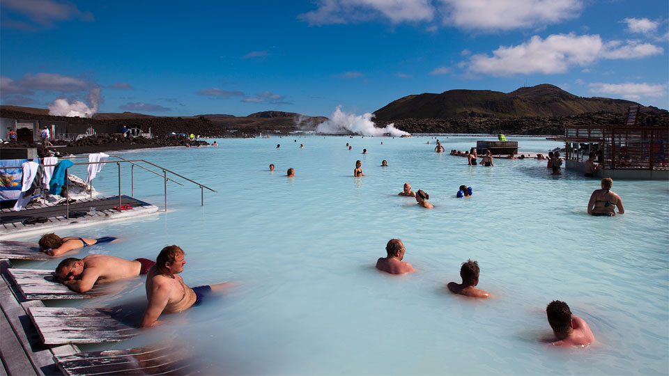 Geothermal baths Iceland