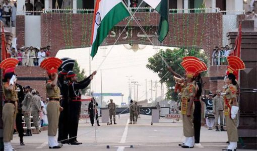 India-Pakistan at Wagah-Attari