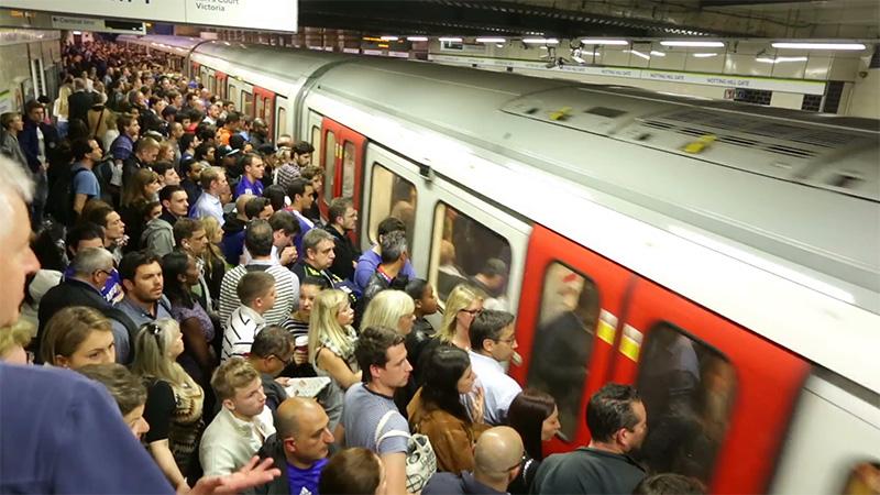 Crowded Public Transportation