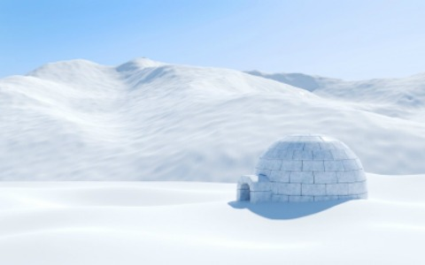 igloo-isolated-in-snowfield