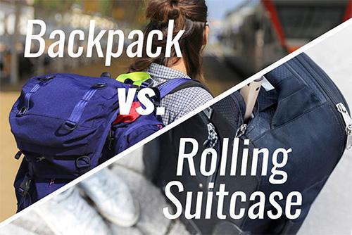Backpack vs. roller luggage