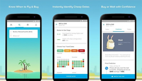 Use search apps for booking