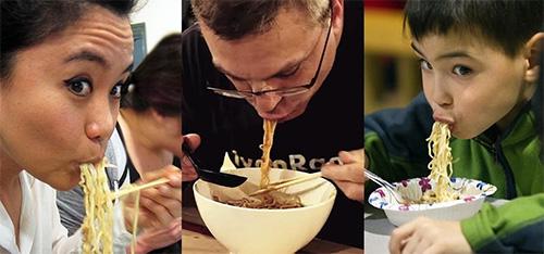 Slurp your noodles